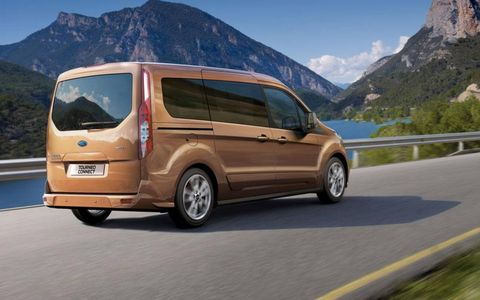 The 2014 Ford Transit Connect Wagon can carry payloads of up to 1,200 lbs. Hinged rear doors or a conventional liftgate should make loading and unloading easy.