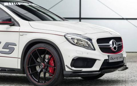 The Mercedes-Benz GLA45 Concept points to the styling of the next GLA.