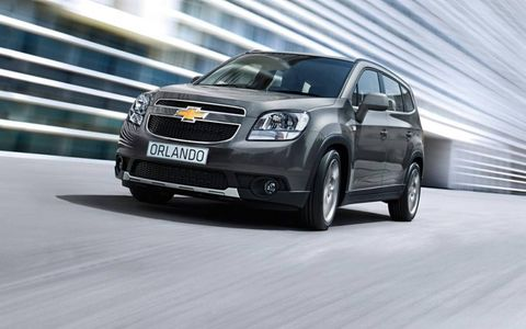 The Orlando is based on same platform as the Chevrolet Cruze, and can haul seven passengers.