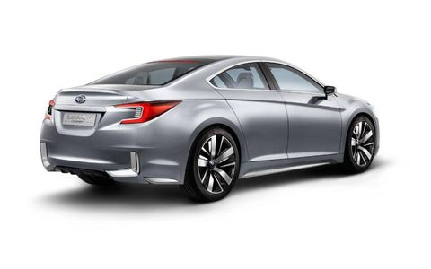 The Subaru Legacy Concept previews a future styling direction for the brand.