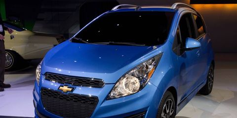 The 2013 Chevrolet Spark debuted this week at the Los Angeles Auto Show