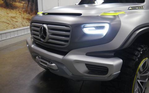 Can you see the G in the headlights on the Mercedes SUV concept?