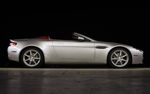 Viewed from afar, the proportions of the roadster are a little wider in the rear, compared with the coupe, to accommodate the power-retractable soft-top. But from any angle, the car is still sublimely seductive. With the top down, the panels retreating behind each headrest are not only integrated nicely into the whole as they were on the DB AR1 Zagato Coupe of 2003, but they are actually covered with the same leather trimming the new roadster's interior.