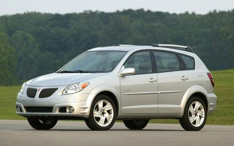 Affordable and utilitarian, the Pontiac Vibe is a good used-car choice.