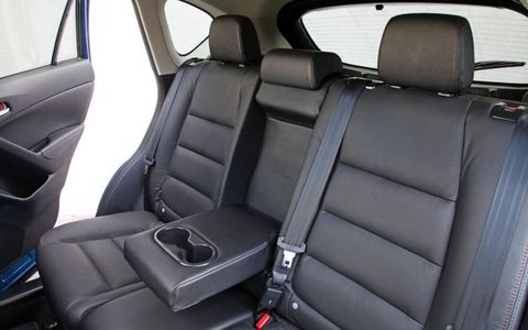 The rear seats of the Mazda CX-5 crossover.