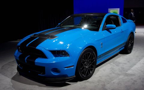 2013 Ford Mustang Shelby GT500 at the Los Angeles Auto Show