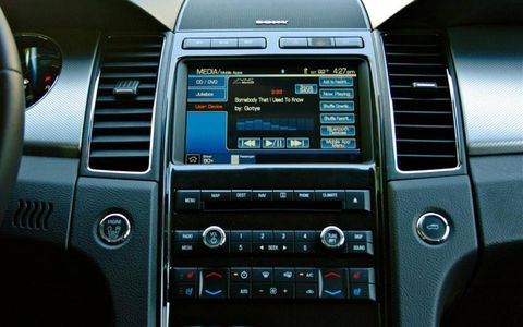 2012 Ford F-150 XLT SuperCrew buyers who avoid the center console-mounted infotainment can still enjoy a backup camera. In that case, the screen is mounted in the rearview mirror.