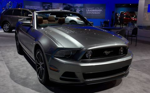 2013 Ford Mustang at the Los Angeles Auto Show