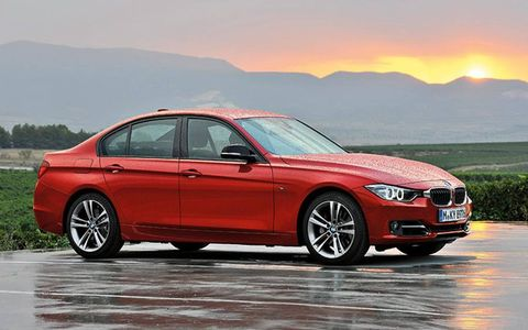 A turbo four is the base engine in the 2012 BMW 3-series.