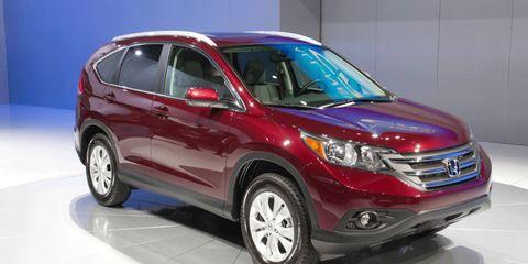 The 2012 Honda CR-V at the Los Angeles Auto Show