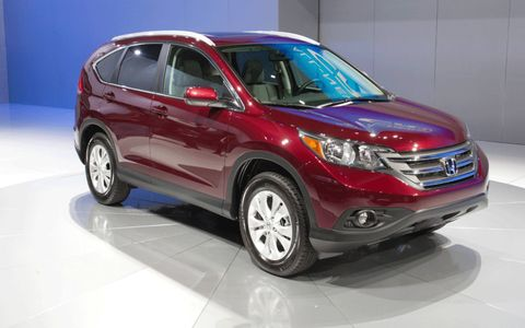 The 2012 Honda CR-V at the Los Angeles Auto Show