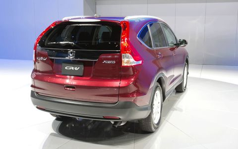 Rear view of the 2012 Honda CR-V from the Los Angeles Auto Show