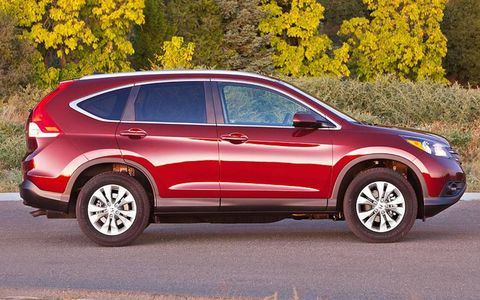 The 2012 Honda CR-V will continue to use the 2.4-liter four-cylinder engine.