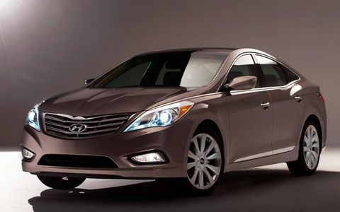 The 2012 Hyundai Azera was revealed at the Los Angeles Auto Show this week.
