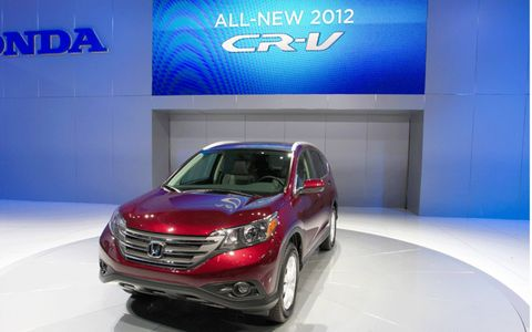 Front view of the 2012 Honda CR-V from the Los Angeles Auto Show