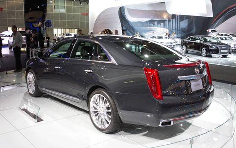 Rear view of the 2013 Cadillac XTS