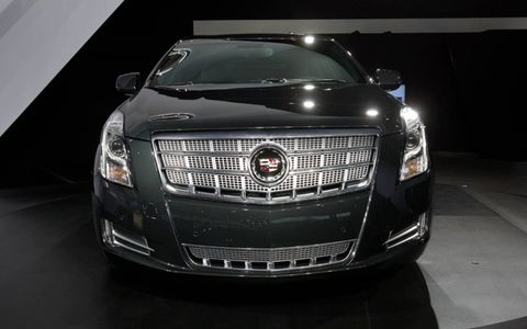 View of the grille of the 2013 Cadillac XTS