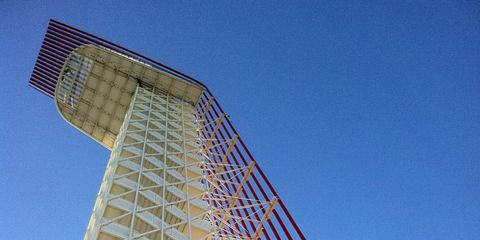 Blue, Daytime, Architecture, Line, Landmark, Colorfulness, Azure, Tower, Parallel, Rectangle,