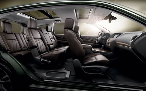 Cutaway look at the interior of the 2013 Infiniti JX