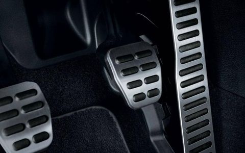 The stick and pedal form the basis of the 2012 Volkswagen GTI's character. The clutch is flat-out easy and confidence-inspiring.