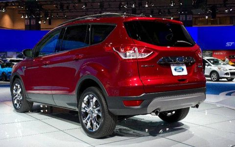 Rear view of the 2013 Ford Escape at the Los Angeles Auto Show