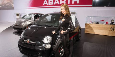 2012 Fiat 500 Abarth booth babe