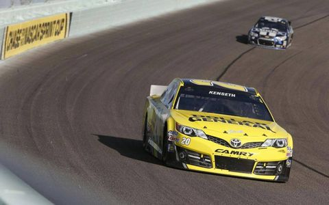 Matt Kenseth chased Jimmie Johnson in the points, but he led Johnson on the race track much of the race at Homestead.