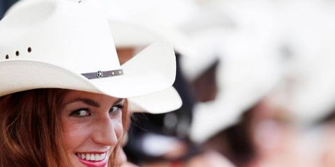 We can tell you work at Circuit of the Americas by the hat.