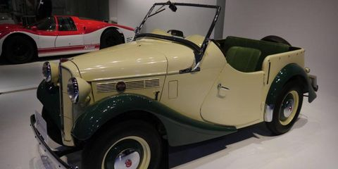 """Hard to believe but this is a 1952 model, a Datsun Sports DC-3. Somewhere, Roger Rabbit is sayinig, """"Dude, where's my car?"""""""