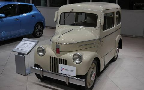 1947 TAMA Electric Vehicle. There was very little gas in Japan in 1947, but lots of electricity. Thus, TAMA.