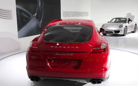 The Porsche Panamera GTS is based on the 4S model