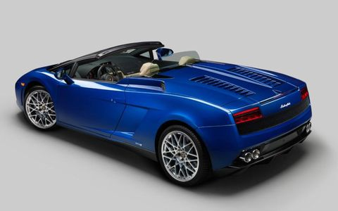 You can drive topless in the Lamborghini Gallardo LP 550-2 Spyder.