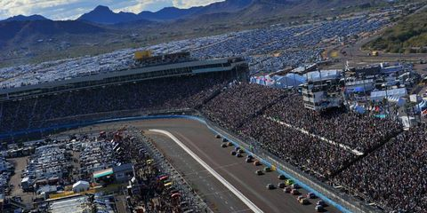 A view from above during the NASCAR Sprint Cup race at Phoenix International Raceway on Nov. 13. Photo by: LAT Photographic