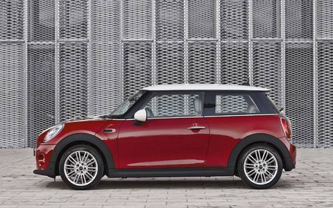 The exterior of the Mini is slicker and more aerodynamic than the existing models.