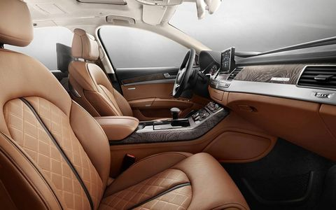 The interior has been designed by Italian furniture maker Poltrona Frau.
