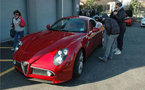 Alfa 8C Competizione at the New Jersey Cars and Croissants meetup