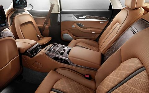 The Exclusive Concept interior will be coupled with the A8L W12 version of the sedan.