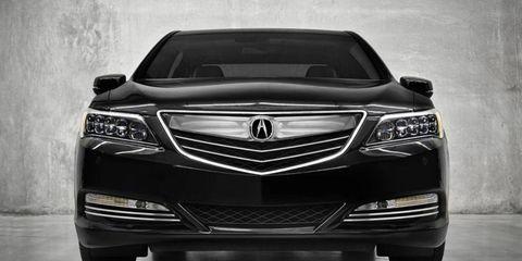 The 2014 Acura RLX Sport Hybrid gets a 3.5-liter V6 making 301 hp.