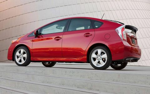 """One editor compared driving the 2012 Toyota Prius Four to """"using some kind of discarded 1990s personal digital assistant."""""""