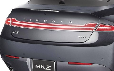 Evoking Lincolns of the past, the MKZ gets a full-width rear light bar.