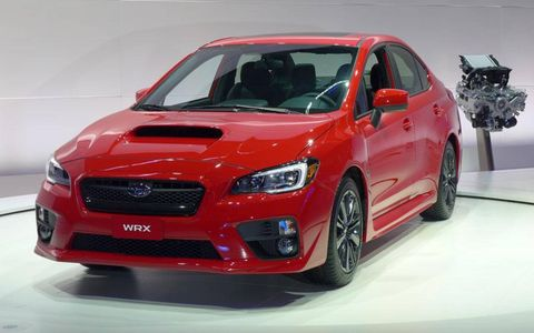 Front view of the 2015 Subaru WRX.