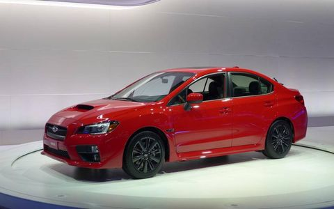 The WRX debuted earlier this year at the New York Auto Show.