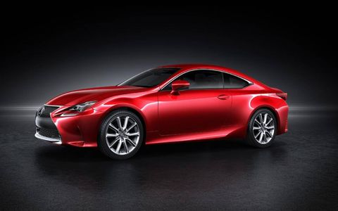 The Lexus RC Coupe comes with two different sets of wheels, leaving the customization in the hands of the consumer.
