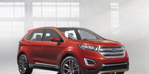 The Ford Edge Concept makes its debut at the 2013 Los Angeles Auto Show.