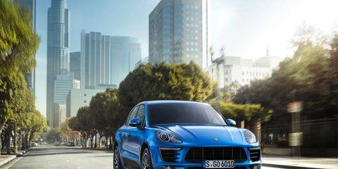 Front look at the 2015 Porsche Macan.