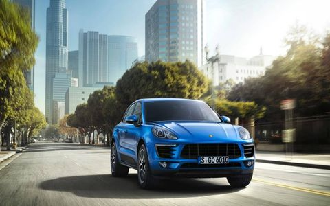 Front look at the 2015 Porsche Macan.