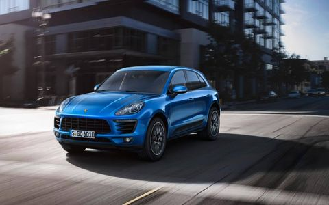 The Macan is a slightly smaller version of the Porsche Cayenne.