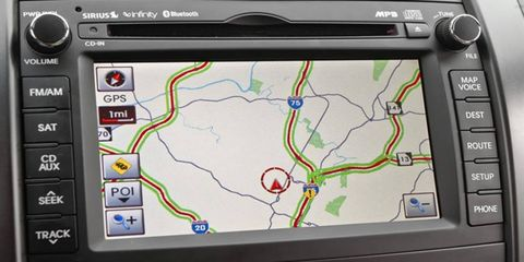 Kia's navigation system isn't the prettiest, but it's as effective and easy to use in the 2012 Sorento as it is in Kia's other products.