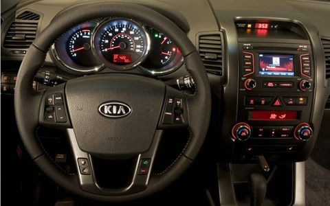 The 2012 Kia Sorento is well put together, but materials aren't necessarily class-leading.