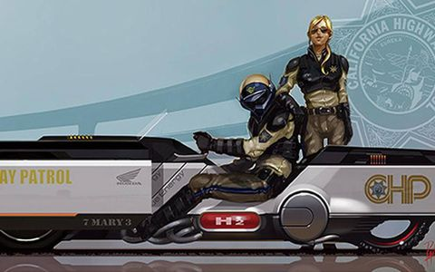 """Honda's """"CHiPs"""" 2025 Traffic Crawler. Hey, in the BSG reboot, Starbuck was a woman..."""